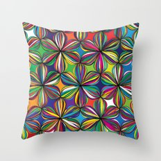 Ribbon Geometric Art Print. Throw Pillow