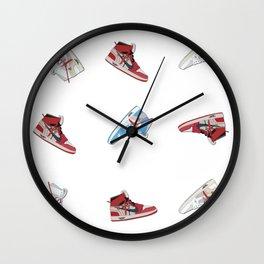 Jordan 1 Offwhites Pattern Wall Clock