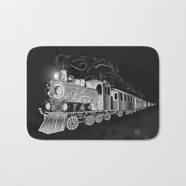 A nostalgic train Bath Mat