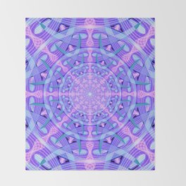 Temporal Warp Mandala Throw Blanket
