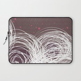Doodle Flowers in Purple by Friztin Laptop Sleeve