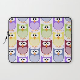 Cute Owls, Owl Pattern, Colorful Owls, Baby Owls Laptop Sleeve