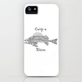 Carp-e Diem Fish Skeleton iPhone Case