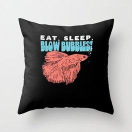 Siamese Fighting Betta Fish Splendens Gift Idea Throw Pillow