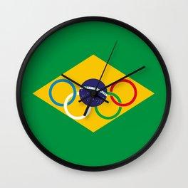 Brazil Olympics Wall Clock