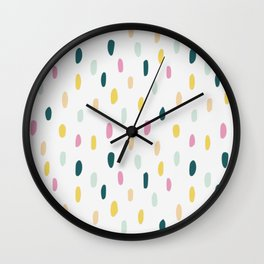 Colorful rain dot Wall Clock