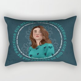 We Protect Those Rectangular Pillow
