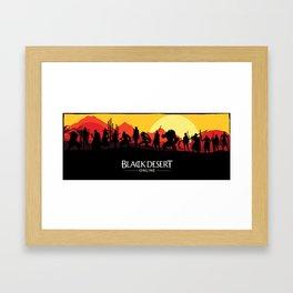 Black Desert Online Poster Framed Art Print