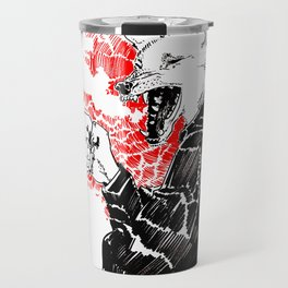 smoke wolf Travel Mug