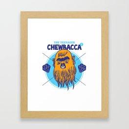 Hipster Chewie Framed Art Print