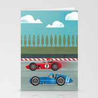 racing Stationery Cards featuring Retro Racing by we are 3 fish