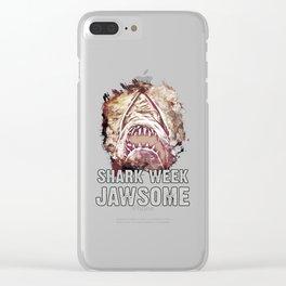 Shark Week Jawsome Clear iPhone Case