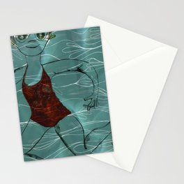 Blue Swimmer no. 2 Stationery Cards