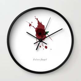 poppy .. lest we forget Wall Clock