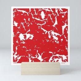 Abstract art red Mini Art Print