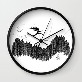 Night Jumps Wall Clock