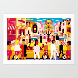 Palm Canyon Boulevard Art Print