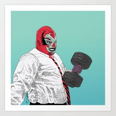 Lucha Wayne Art Print