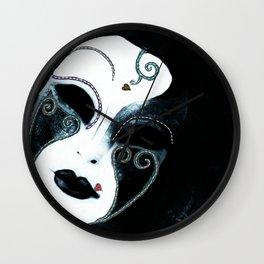 Venetian Mask of Mystery Wall Clock