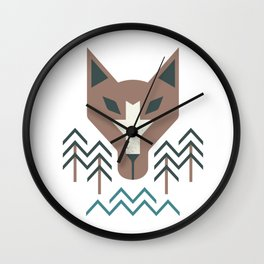 The Wolf For The Trees Wall Clock