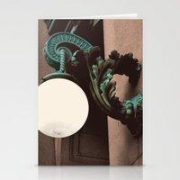 green lantern Stationery Cards featuring Green Lantern by Brooke Copani