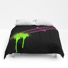 Hot Pink Knife Comforters