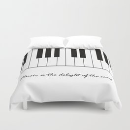 Music is the delight of the soul Duvet Cover