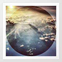 Sky before Nightfall. Art Print