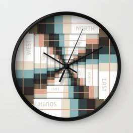 Layers of Directions Wall Clock