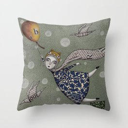 You can fly, Mary! Throw Pillow