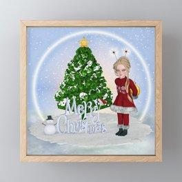 Santa's Littlest Helper Framed Mini Art Print