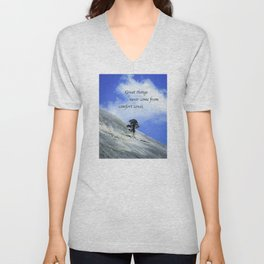 Great Things Never Come From Comfort Zones Unisex V-Neck