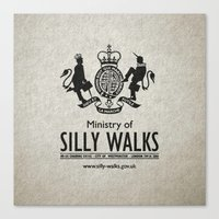 monty python Canvas Prints featuring MONTY PYTHON - Ministry of Silly Walks by La Cantina