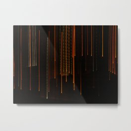 Raining Lights Metal Print