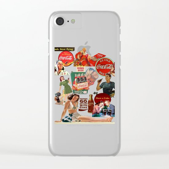 vintage coke ads Clear iPhone Case