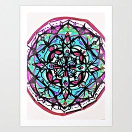 Budding Mandala x4 Art Print