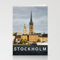 stockholm Stationery Cards featuring STOCKHOLM by Sara Ahlgren