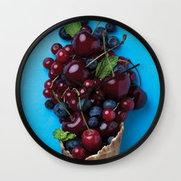 Color food II: Cherries Wall Clock