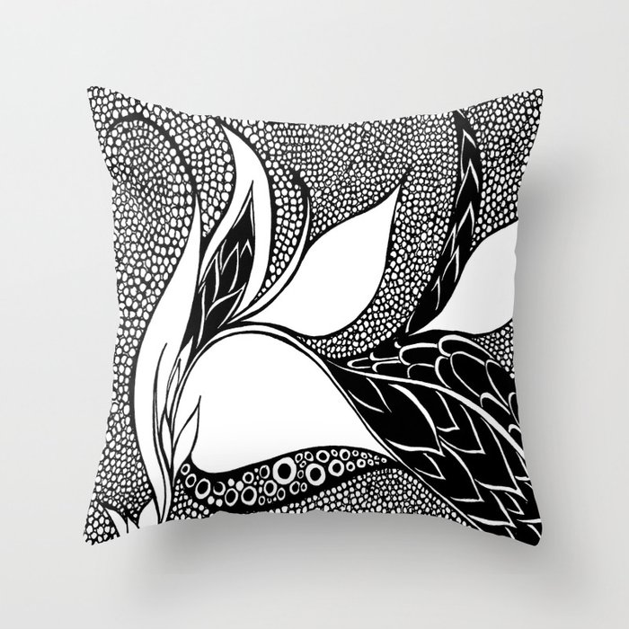Estrenlittore Throw Pillow by jenniferbroderick