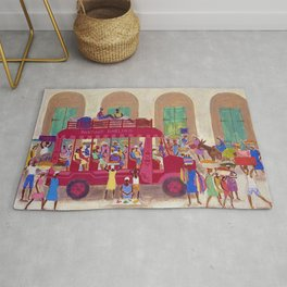 African American Masterpiece 'Haitian Camion' by Ellis Wilson Rug