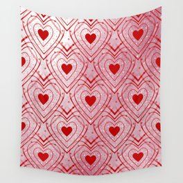 Heartbeat - Romantic - Happy Valentines Day Wall Tapestry