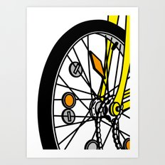 Childhood bike Art Print