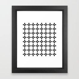 Droplets Pattern - White & Black Framed Art Print