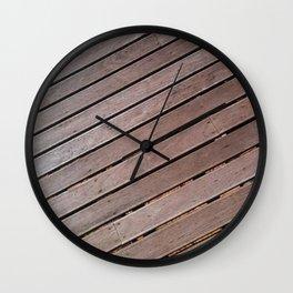 Wood Pattern Wall Clock