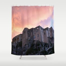Tropea In Calabria At Sunset Shower Curtain