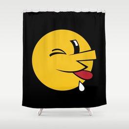 Big Emoticon  Shower Curtain