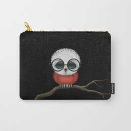 Baby Owl with Glasses and Polish Flag Carry-All Pouch