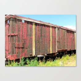 Wooden Rail Car. Canvas Print