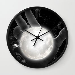 The Moon in the Hand Wall Clock
