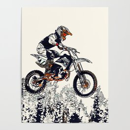 """High Flyer"" Motocross Racer Poster"